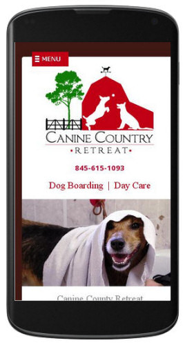 Canine Country Retreat website mobile view